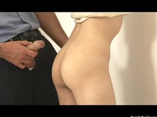 nasty chap arrested and drilled by raunchy police