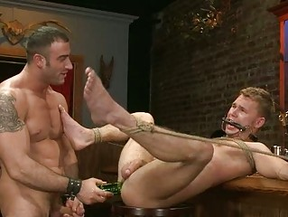 lewd homo stud gets roughly double drilled