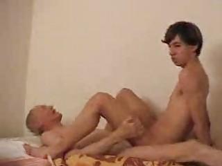 juvenile gay rides his daddys stiff boner on couch