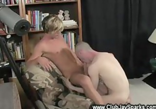 golden haired guy gets his knob ridden