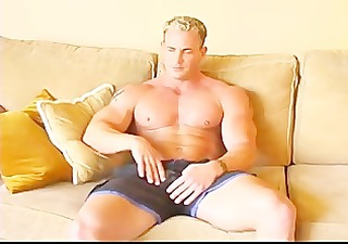 big muscle bodybuilder david shows off his body