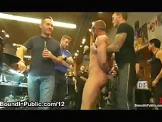blindfolded gay ramrod sucked and ass licked