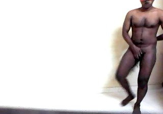 hawt indian hunk stripping and jerking