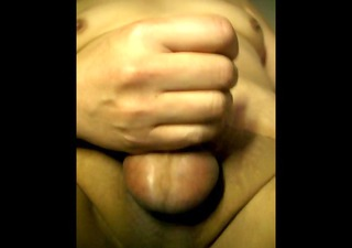 hairless smooth dong jerkoff &; cumming