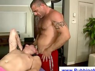 engulfing dick during a massage
