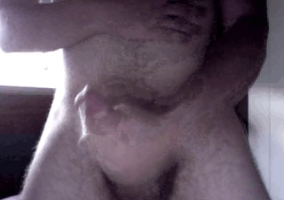 me jerking and cumming handsfree with my uncut