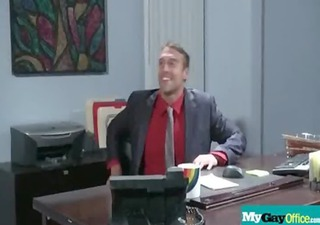 hot muscled homo chaps hardcore fuck in office 112
