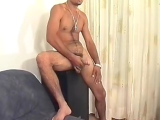 solo hirsute gay hunk wanker for a glass full of