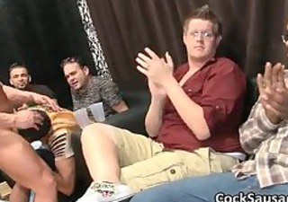 bunch of drunk homosexual boys go avid in club