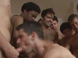 bareback gay team fuck party