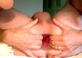 anal fist toy insertion gape arse play