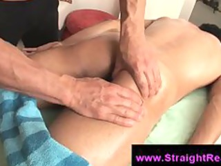 straight boy ass licked by homo man on massage