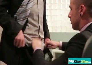 homo dudes fucked hard in the wazoo at the office