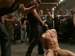 muscled homo hunk receives fastened up and