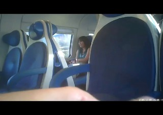dickflash train masturbation to a russian