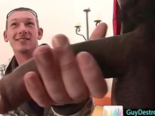 kieron jerking trio giant black homo pecker by