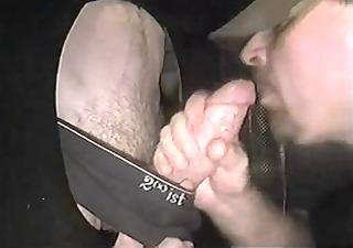 studly cocksmoker receives a facial at gloryhole