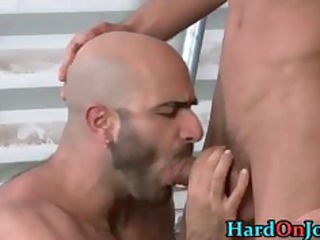 stud receives his worthwhile hairy ass screwed