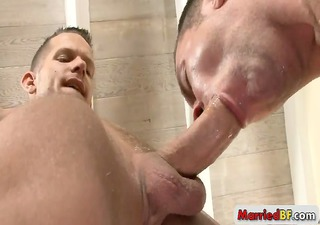tatooed guy gets his arse rimmed part6
