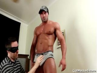 muscled stud gets his astonishing knob homo sex