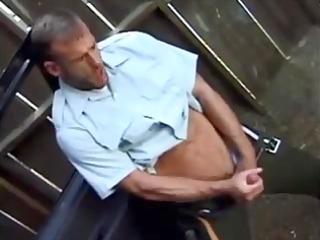 homosexual policemen masturbate together