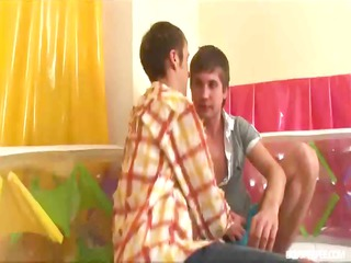 homemade clip of concupiscent pissing twinks in