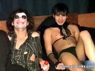 hawt twinks having a dress party porn gay movie