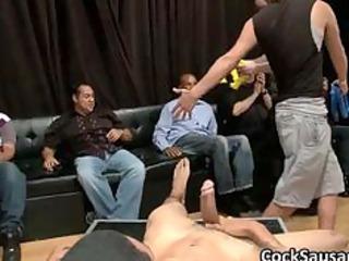 bunch of drunk homosexual boyz go mad in club