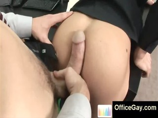 homo studs acquires drilled in his ass at office