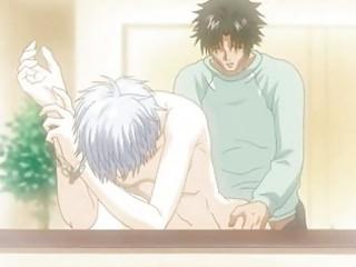 hentai homosexual rides schlong and receives