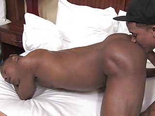 black homo boy-friends licking every others ass